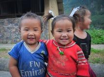 种族Hmong孩子在Sapa,越南 免版税库存图片