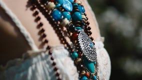 种族jewelery细节  股票录像