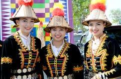 从种族Kadazan的马来西亚妇女 库存照片