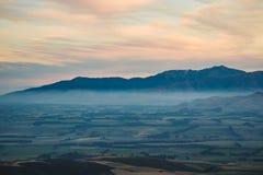 种田与好的阴影,登上萨莫斯,坎特伯雷,新西兰 免版税库存图片
