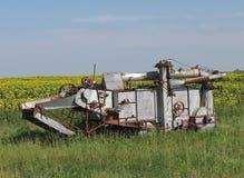 种田收割机组合的葡萄酒 免版税图库摄影