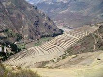 种田步的秘鲁 免版税库存照片