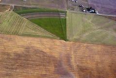种田灌溉西部的蒙大拿 免版税库存照片