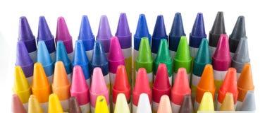 48种蜡笔颜色 免版税库存图片