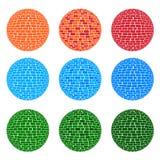 3种颜色口气球形砖样式 图库摄影