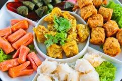 种类中国快餐 库存图片