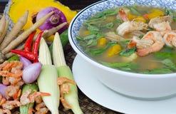 辣混杂的蔬菜汤(Kaeng梁) 免版税库存图片
