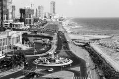 科伦坡,斯里兰卡鸟瞰图现代大厦 免版税库存图片