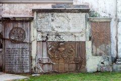 科伦坡,斯里兰卡- 2017年2月11日:Wolvendaal教会-荷兰语被改革的基督徒殖民地居民VOC教会外部  免版税库存图片