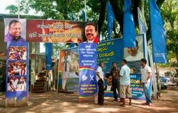 科伦坡,斯里兰卡- 2015年1月7日:斯里兰卡的总统选举 免版税库存照片