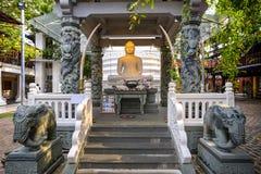 科伦坡gangaramaya lanka sri寺庙 免版税库存图片