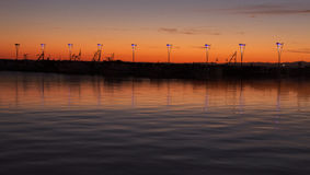 科佩尔的日落 图库摄影