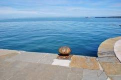 科佩尔老港口  免版税库存照片