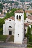 科内利亚诺威尼托古老教会  免版税库存照片