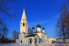 科列夫教会剁碎了17世纪城市 图库摄影