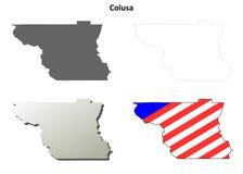 科卢萨县,加利福尼亚概述地图集合 库存图片
