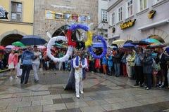 科堡的桑巴舞蹈家 库存图片