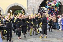 科堡的桑巴舞蹈家 库存照片