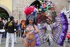 科堡的桑巴舞蹈家 图库摄影