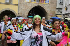 科堡的桑巴舞蹈家 免版税图库摄影