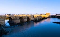 科多巴罗马桥梁  免版税库存照片