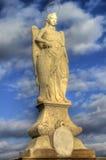 科多巴赞助人拉斐尔圣雕象 免版税图库摄影