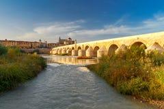 科多巴 罗马的桥梁 免版税库存图片