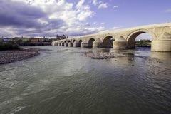 科多瓦罗马桥梁  免版税库存照片