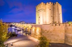 科多巴梅斯基塔和罗马桥梁  库存图片