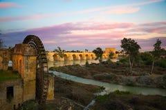从科多巴的罗马桥梁 库存照片
