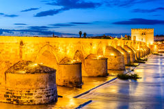 科多巴-罗马桥梁,安大路西亚,西班牙 库存照片
