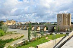 科多巴罗马桥梁  免版税库存图片