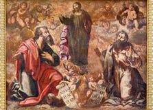 科多巴-耶稣升天壁画从17的 分 在教会Iglesia de圣奥古斯丁里 库存照片