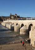 科多巴,西班牙罗马桥梁  免版税库存照片