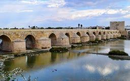 科多巴,西班牙罗马桥梁 库存照片