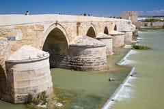 科多巴,西班牙, 2015年:罗马桥梁 免版税库存图片