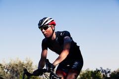 科多巴,西班牙- 2014年8月26日, :在La布埃尔塔阶段的Aleksejs Saramotins (循环的IAM)  图库摄影