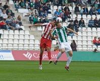 科多巴,西班牙- 3月17 :弗朗西斯科希门尼斯W (9)在比赛同盟科多巴期间的行动(W)对阿尔梅里雅(r) (4-1) 免版税图库摄影