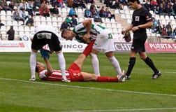 科多巴,西班牙- 3月17 :查尔斯Dias奥利维拉R (9)在比赛同盟科多巴期间的行动(W)对阿尔梅里雅(r) (4-1) 库存照片