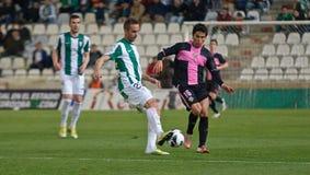 科多巴,西班牙- 3月30 : 阿尔贝托行动的Aguilar W (20)在比赛同盟科多巴期间(W)对萨瓦德尔(b) (3-0) 库存照片