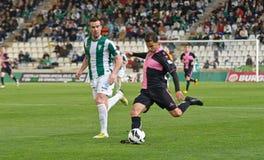 科多巴,西班牙- 3月30 : Manuel行动的Gato B (14)在比赛同盟科多巴期间(W)对萨瓦德尔(b) (3-0) 库存图片