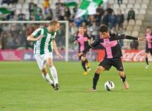 科多巴,西班牙- 3月30 : Ulises Alejandro D�vila B (9)在比赛同盟科多巴期间的行动(W)对萨瓦德尔(b) (3-0) 库存图片