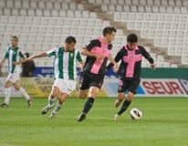 科多巴,西班牙- 3月30 : Ulises Alejandro D�vila B (9)在比赛同盟科多巴期间的行动(W)对萨瓦德尔(b) (3-0) 库存照片
