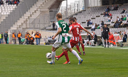 科多巴,西班牙- 3月17 :Aleix维达尔Parreu R (8)在比赛同盟科多巴期间的行动(W)对阿尔梅里雅(r) (4-1) 库存图片
