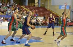 科多巴,西班牙- 9月14 :MACIEJ行动的兰普B (30)在比赛巴塞罗那足球俱乐部(b)期间对钶Municip的塞维利亚(G) (91-85) 免版税库存照片