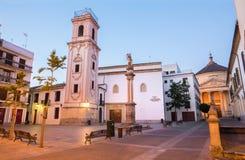 科多巴- Iglesia在广场de la Compania广场的de圣多明哥 免版税库存图片