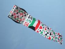 科威特与牡鹿的旗子风筝 免版税图库摄影