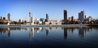 科威特地平线 免版税图库摄影
