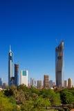 科威特城地平线视图  库存照片