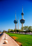 科威特城的结构上图标 免版税库存照片